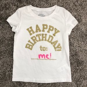 """Carter's """"Happy Birthday to:  me!"""" T-Shirt - 3T"""